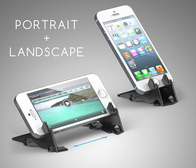 Pocket Tripod iPhone Stand Portrait Landscape