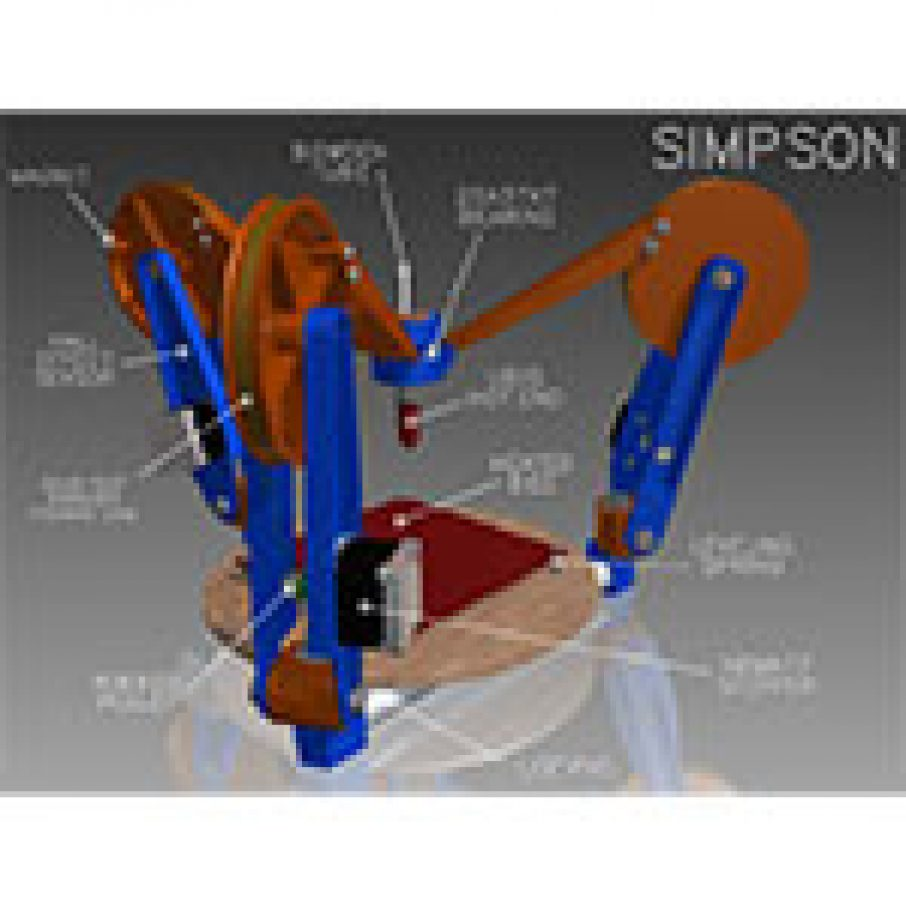 RepRap Simpson 3D Printer diagram