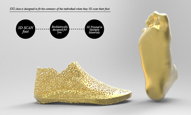 XYZ Shoes 3D Printed Customized