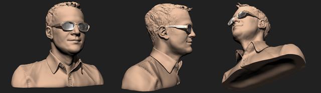 Man's head Mudbox 3D Printing