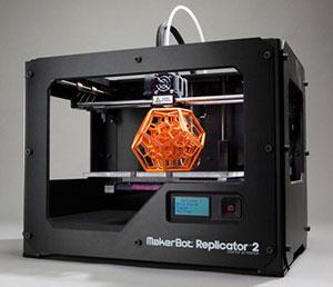 replicator2 Makerbot 3d printer