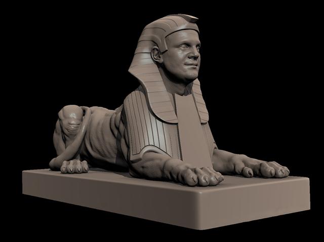 sphynx model 3D Printing