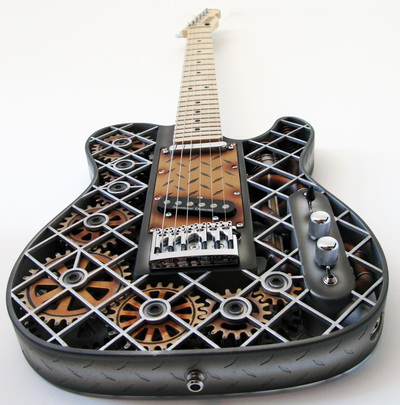 3D Printed Guitar Steampunk