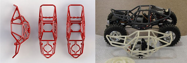 3D Printed Chassis Concept Design & Real World 3D Printed Crawler Parts