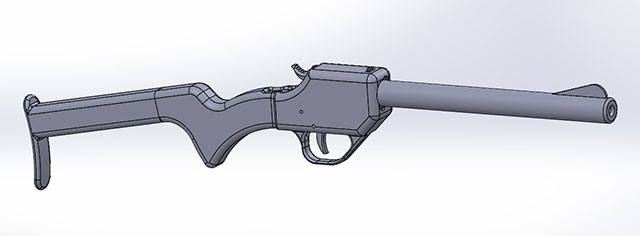 3D Printed gun The Grizzly