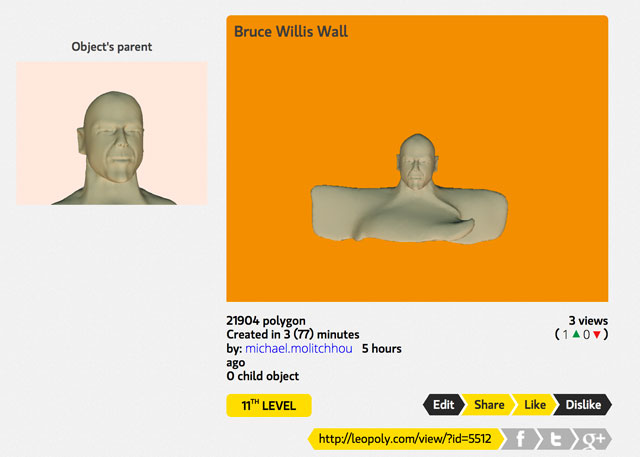 Bruce Willis 3D Model Leopoly