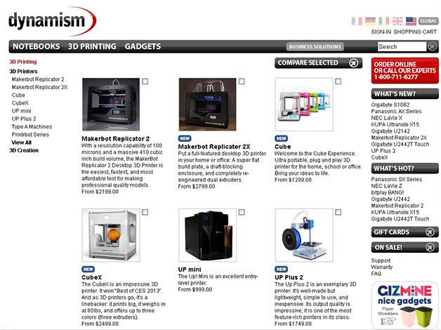 Dynamism Online 3D Printer Store