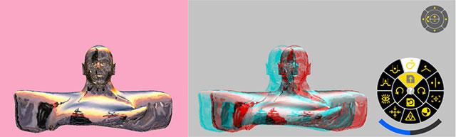 Metal & 3D Bruce Willis 3D Model Leopoly