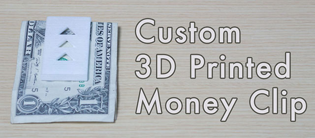 Money Clip 3D Creation Systems Autodesk Instructables Challenge