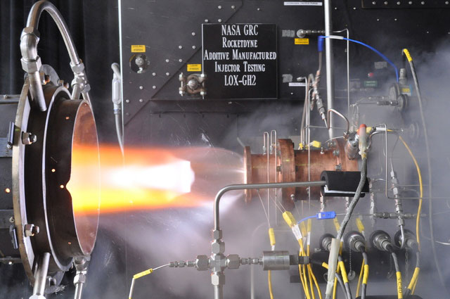NASA GRC Rocketdyne Additive Manufactured Injector Testing