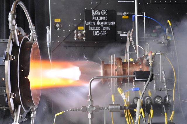 NASA GRC Rocketdyne Additive Manufactured Injector Testing