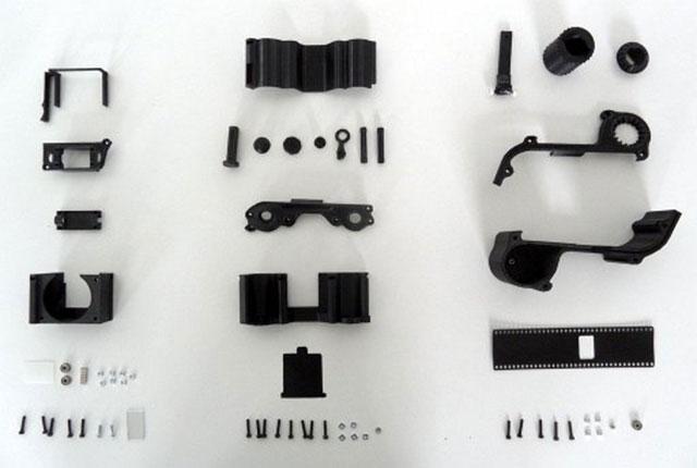 Parts 3D Printed SLR Camera open reflex