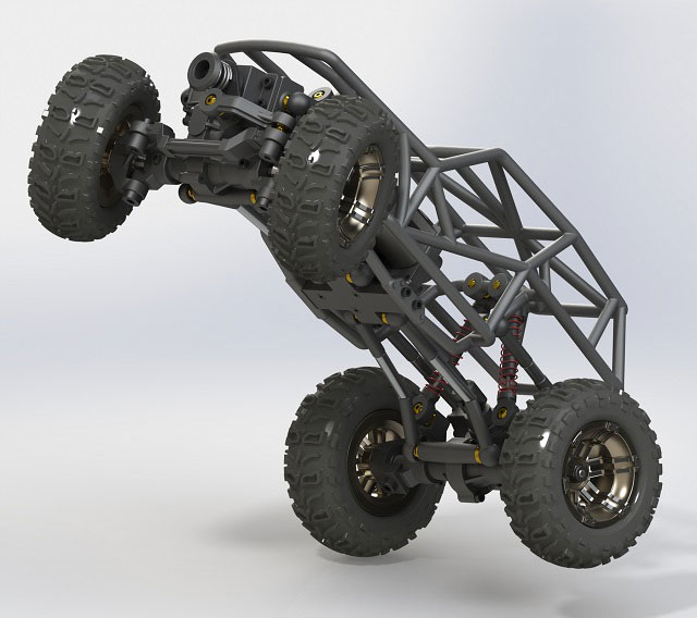 SolidWorks rendering of a proto
