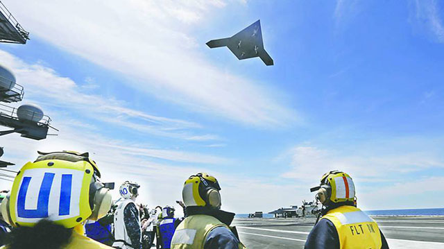 USdrone from aircraft carrier