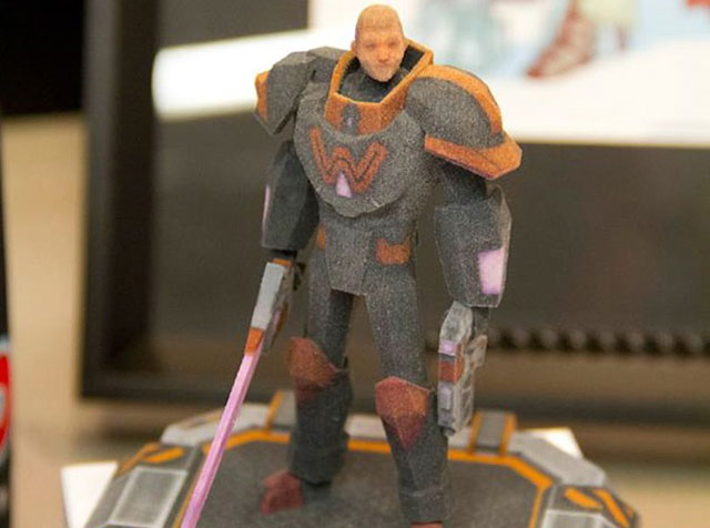 Wade the Super-Master 3D-printed sandstone statue Shapeways
