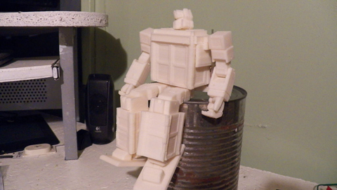 3D Printed Transformer on the can