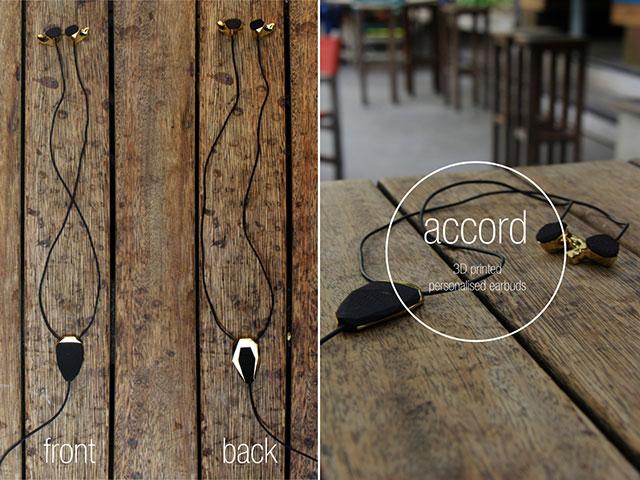 Accord3D printed personal earphones Julian Goulding