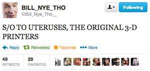 Bill Nye Tweet