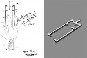 Chopstick Holder US Patent Office 3D model