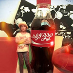 Coca Cola Israel mini 3D Printed figurine