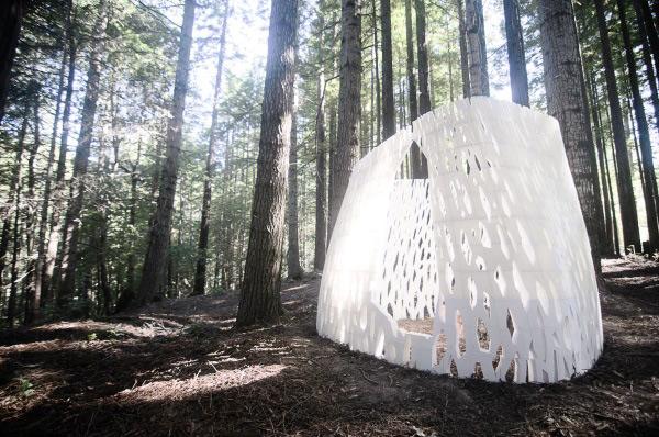 Echoviren 3D printed architectural structure