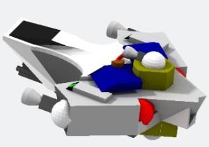 Scrios MicroFusion Class 1 Gunship 3d model