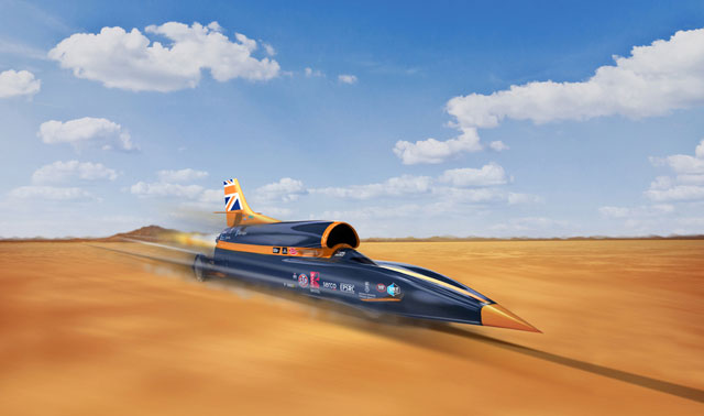 Supersonic Car Desert Bloodhound Renishaw