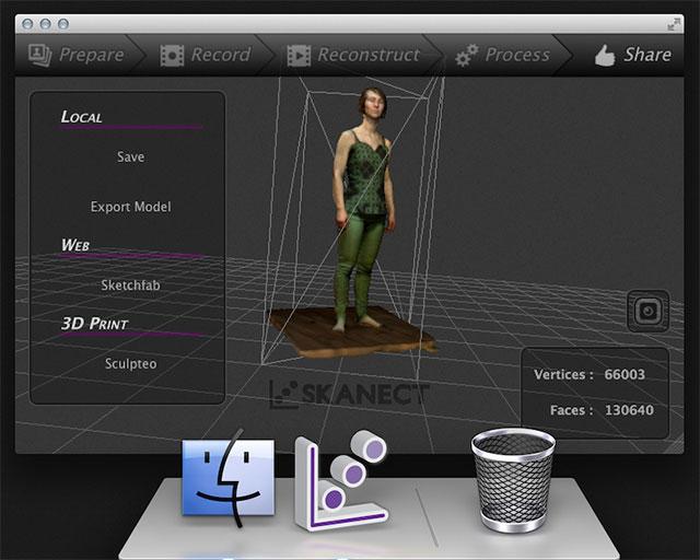 skanect  scanning on mac