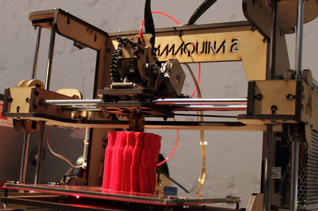 3D printing live process