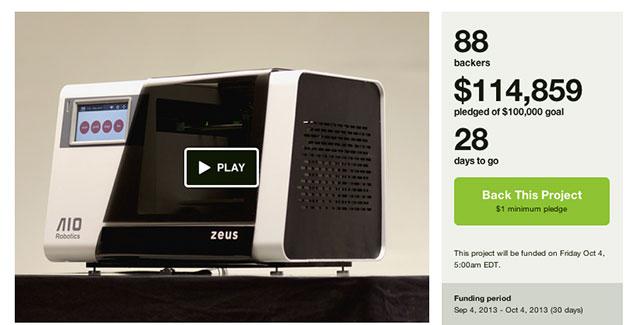 AIORobotics Zeus Kickstarter Screenshot