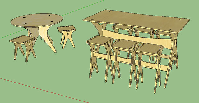 Eric Open Table Gallery SketchUp Pro