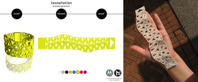 Tessellation triangle-based bracelet Cube 3D Printed