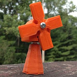 3D-printed windmill.