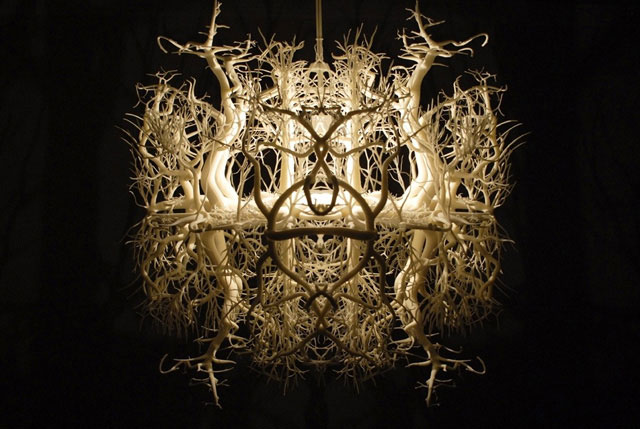 Trick of Light Transforms Room Into Eerie Forest with 3D Printed ...