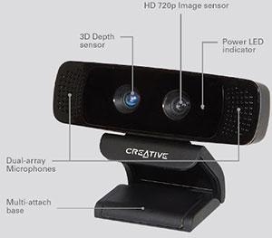 senz3d camera Intel