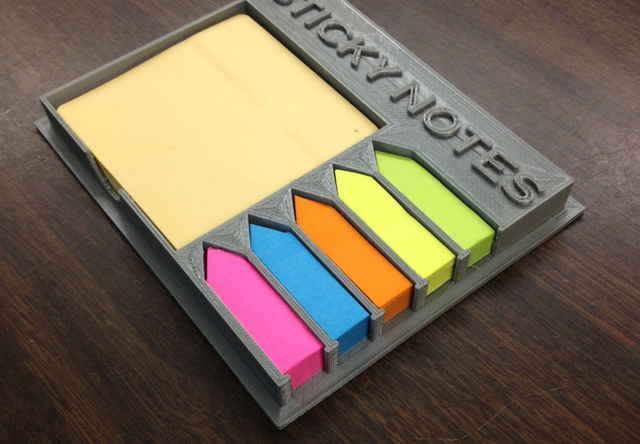 3D Printed Sticky Note Holder