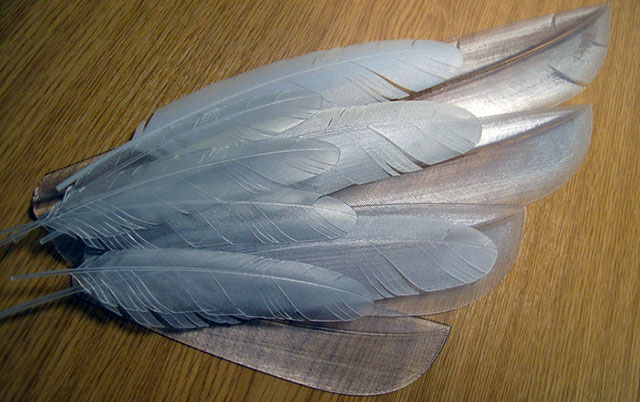 Feathers 3D Printed VERO materials