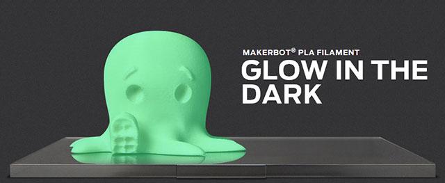MakerBot PLA Filament Glow in the dark