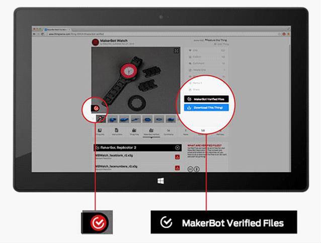 MakerBot Verified Thingiverse