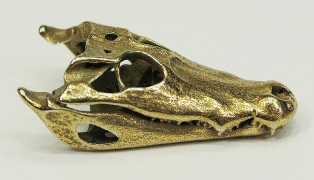 Bronzed Stainless Steel Caiman Alligator