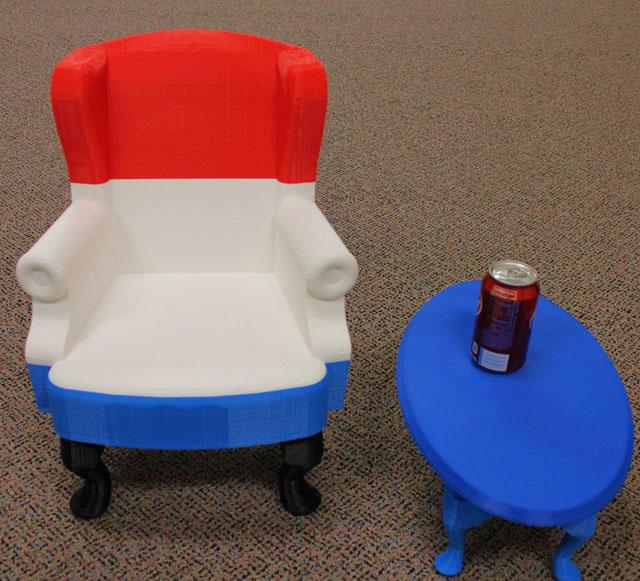 chair 3D Printed InDimension3 3D Printer