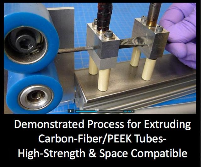 SpiderFab carbon-fiber extrusion process