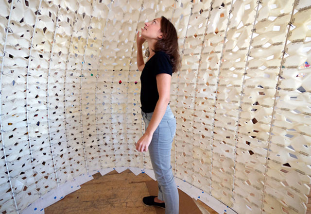 inside saltYgloo 3D Printed Salt Structure