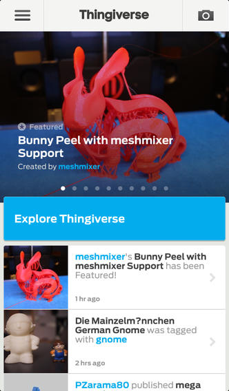 thingiverse app ios makerbot