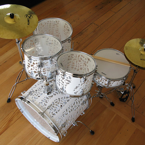 3D Printed Guitars, Keyboards, and, Now, Drums