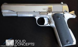 3D Printed metal gun Solid Concepts