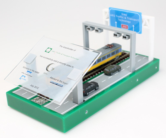 Award financial tombstone 3D Printed elements SAU