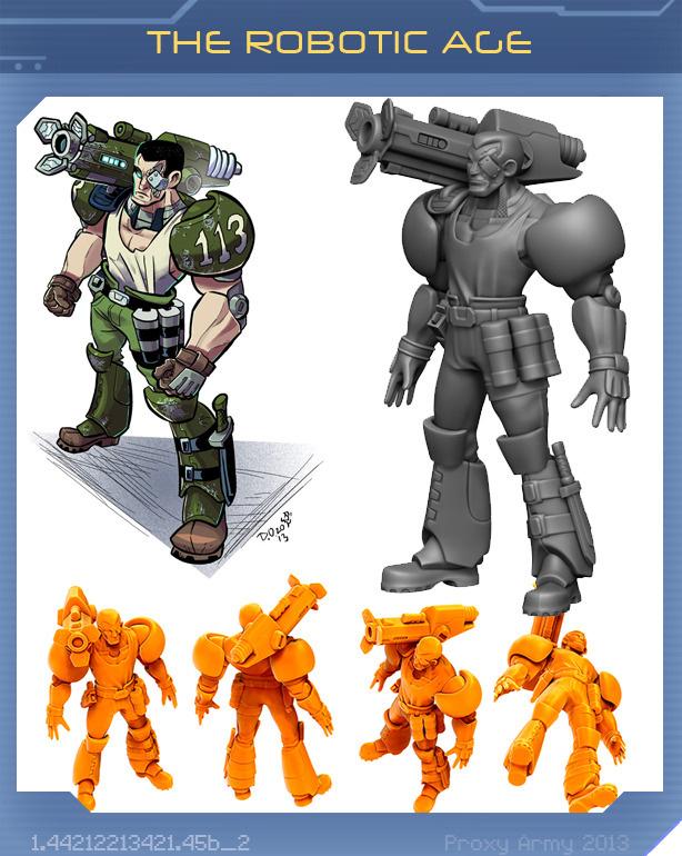 Proxy War 3D Printed miniature Robotic Age