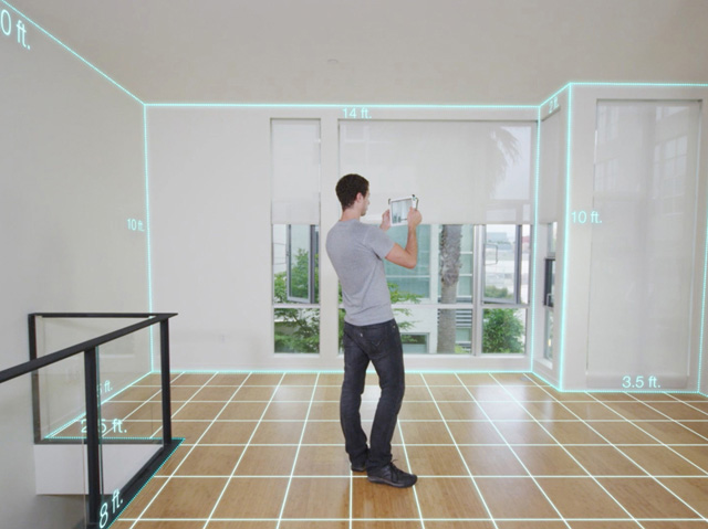 real dimensions Structure Sensor 3D Scanner