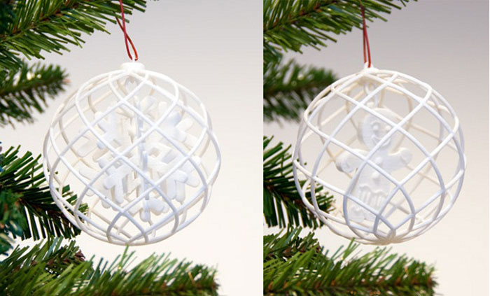 Snowflake 3D Printed Ornament